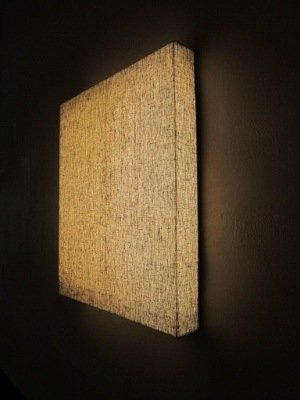 """Dedication to a painting"". Wood, plastic, lamps, cotton, flax. 2013. Photo by P. Ramanauskas"