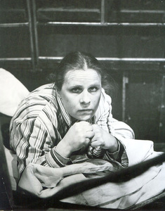 V. Grigaitytė – Giedrė in the play The Great Lust (director N. Karpuškaitė). Photo from the personal archive, 1984.
