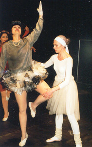V. Grigaitytė – Roza Roza in the play Dance Lesson (director Mara Kimele). Photo from the personal archive, 1998.