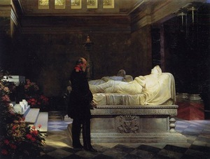 Anton von Werner. July 19, 1870 (King Wilhelm next to his mother's sarcophagus), 1881. The National Museum in Warsaw, Poland.