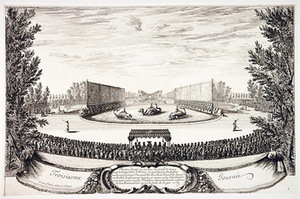 I. Silvestre. Charming island's festival of delights, 1664. Palace of Versailles, France.
