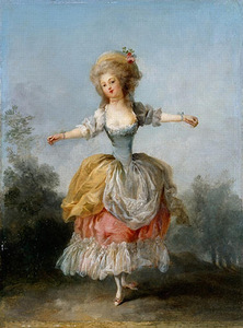 "Frédéric Schall. ""Portrait of Lady Guimard, ballerina of Paris Opera"", 1780, Nant Art Museum, France"