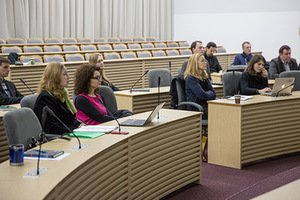 "Open discussion ""Kaunas - European Capital of Culture"", Vytautas Magnus University. Photo by Vytautas Magnus University, Art Faculty"