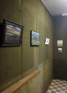 P. Lincevičius' exhibition-project Land at the Vincas Mykolaitis-Putinas Memorial Museum. Author's photograph.