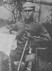 Lieutenant E. Wurche in the Eastern front in 1915
