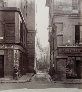 "C. Marville, ""Streets of Gips and Domat"", Paris, 1865"