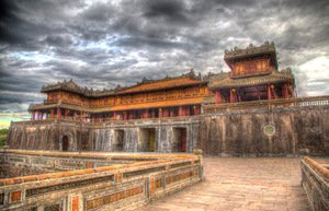The purple palace of the Forbidden City, Hue, Vietnam