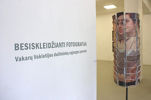 "Fragment of the exhibition ""Expanding Photography"". Photo of Meno Parkas gallery"