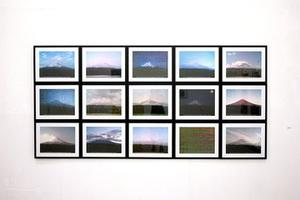 "Jens Sundheim. ""100100 Views of Mount Fuji"" in the exhibition ""Expanding Photography"". Photo of Meno Parkas gallery"
