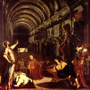 Tintoretto. The Discovery of  St. Mark's Remains. 1562–1566, Brera Gallery, Milan, Italy.