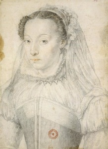 Francois couet, Marie de Cleves, Princess of Condé Portrait, 1571. Paris