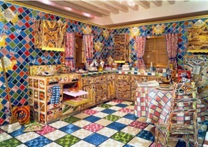 L. Lou. 'The Kitchen', 2005. Installation, beading.