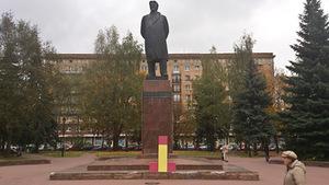 """Mikhailas Gulinas. Akcija """"Asmeninis paminklas"""", 2012"""