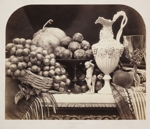 "R. Fenton, ""Still-life with Fruits and Decanter"", 1856"