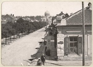 Avenue of Nikolaj (present Laisvės Alley), end of the 20th century. LAM