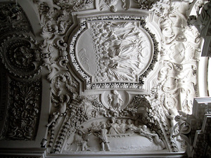 St. Peter and Paul church interior detail, 1675, Vilnius. Author's photo.