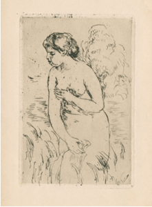 """Swimmer (After Swimming)"", about 1888, canvas, oil"