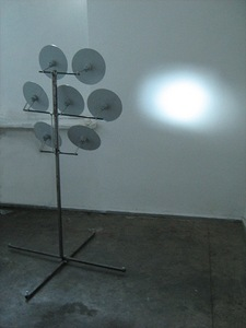 Composition of light No.1. Steel, mirrors, 150x100x100, 2012, Vilnius