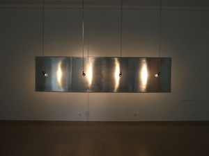 Haunting reflections. Tin, lamps, 100x400, 2010, Vilnius