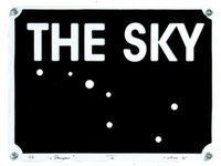 THE SKY. 2005, metalas, emalis, 30x40.