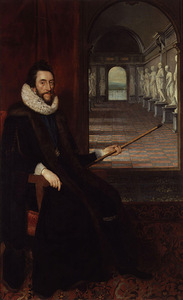 D. Mitens. Thomas Howard, 21st Earl of Arundel in his sculpture gallery in London, 1618. National Portrait Gallery, London, Great Britain.
