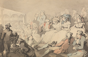 "Thomas Rowlandson. ""An audience watching a play at Drury Lane Theatre"", 1785, Yale Center for British Art, Great Britain"
