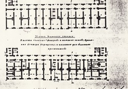 The plan of the main wing of the hospital was formed in the middle of the 19th century. Lukšionytė-Tolvaišienė Nijolė. Period of Goubernia in Kaunas Architecture. Kaunas. VDU Publishing House, 2001. p. 66.