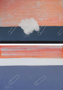 """S. Paliukas. """"Skylės I-II"""", 2011. Drobė, aliejus, (2x) 200 x 140"""