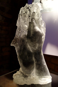Solo exhibition Glass logic at the Kaunas Castle, 2016. Works from the series Hands.