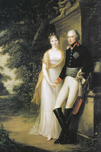 F. G. Weitsch. King William III and Queen Louise at Charlottenburg Park, 1799. Berlin-Branderbug Prussian Palaces and Gardens Foundation, Germany.