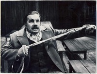 Antanas Žėkas - Laučka. From the play The Dreadful Night, 1988. Photo from the Kaunas State Drama Theatre archive