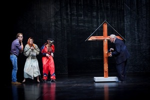 "Scene from the performance ""Woodman."" Donatas Stankevičius photo."
