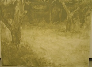 """Landscape"" (without a roe) (linen, oil, 112.5 x 150 cm, 2014)"
