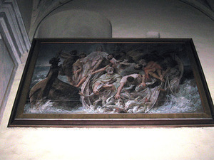 "E. M. Andriolis. ""Miraculous Fishing"", 1891–1892, Kaunas St. Apostles' Peter and Paul Archcathedral Basilica. Photo belongs to the author."